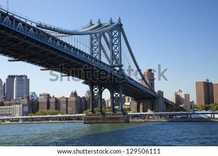 Manhattan Bridge in New York - stock photo