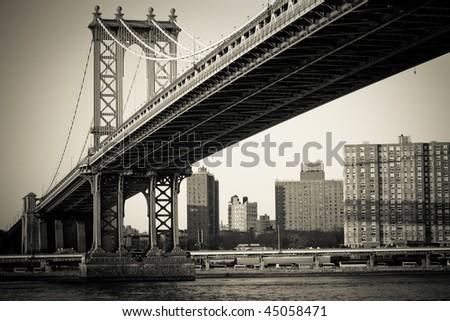 Manhattan Bridge New York - stock photo