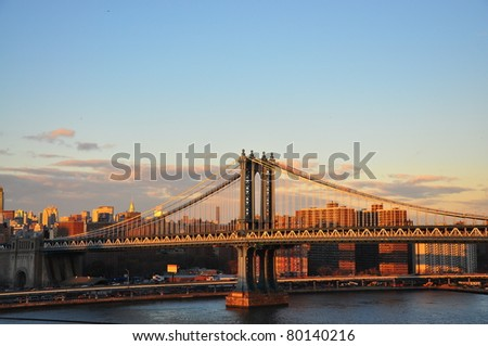 Manhattan Bridge New York - stock photo