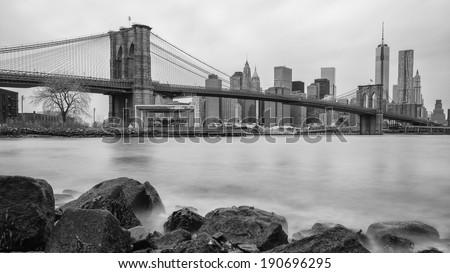 Manhattan Bridge ,New York City  - stock photo