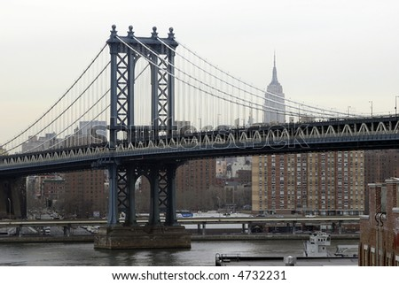 Manhattan bridge, New York City - stock photo