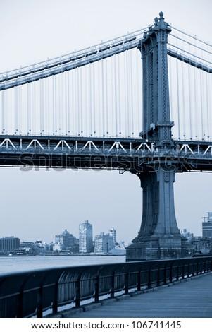 Manhattan bridge, New York City. USA. - stock photo