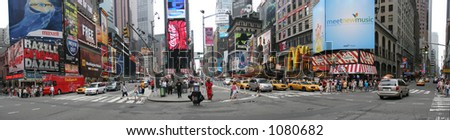manhattan - broadway ,ny,new york - stock photo