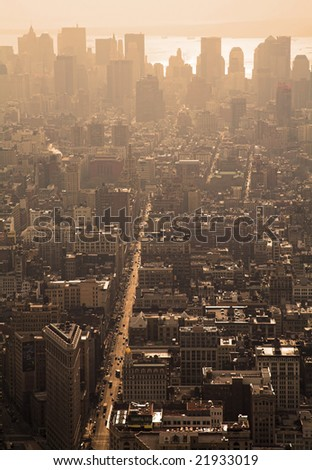 Manhattan Cityscape, New York City - stock photo