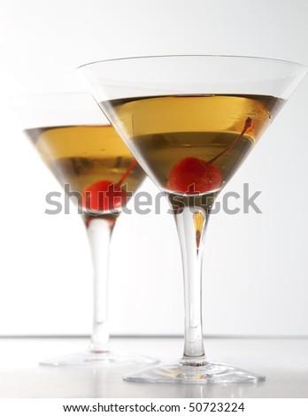 Manhattan cocktails - stock photo