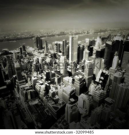 Manhattan from above. New York. - stock photo