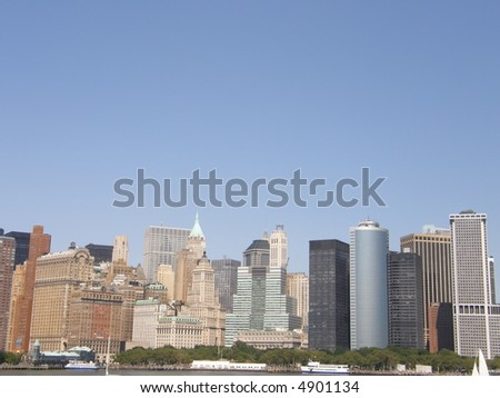 Manhattan in New York City, USA