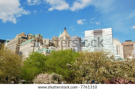 Manhattan in Spring - stock photo