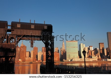 Manhattan morning - stock photo
