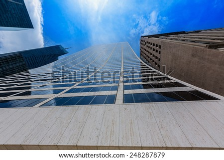 Manhattan New York city Sixth Avenue Las Americas 6th Av NYC US - stock photo