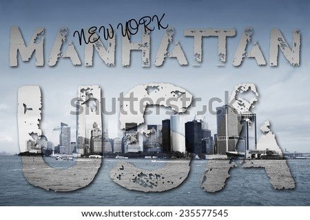 Manhattan - New York - USA - stock photo