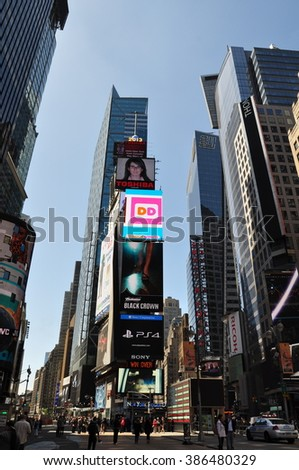 Manhattan, New York, USA - July 5, 2014: Times Square