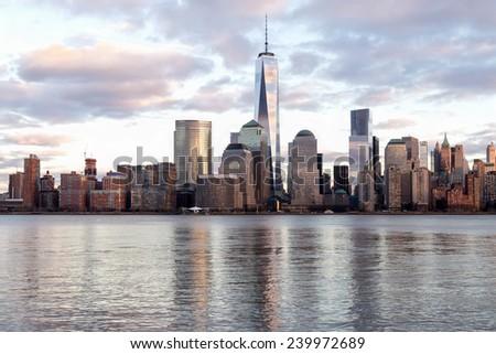 Manhattan - NYC Dusk - stock photo
