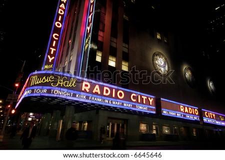 Manhattan - radio city - stock photo
