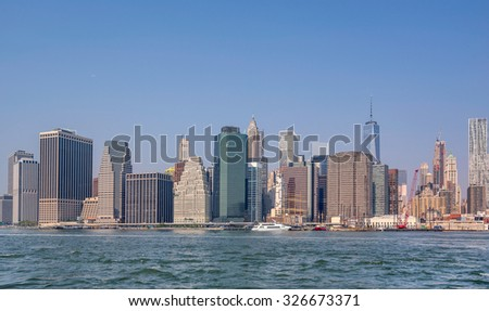 Manhattan's skyline in New York City