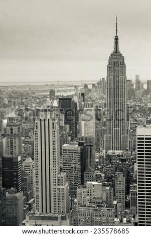 Manhattan skyline. - stock photo