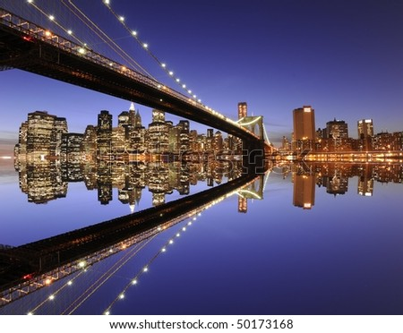 Manhattan skyline - stock photo