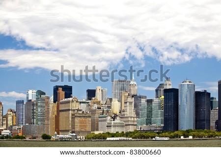 Manhattan skyline - stock photo