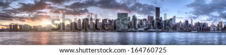 Manhattan Skyline in New York City - stock photo