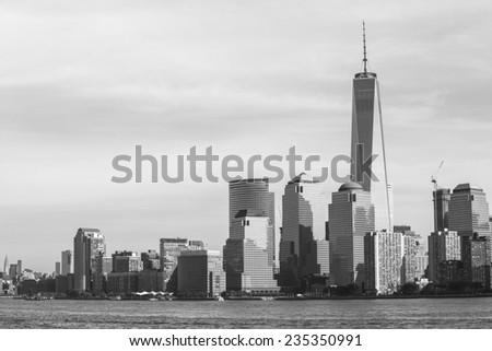Manhattan skyline - New York City. - stock photo