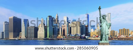 Manhattan Skyline ,New York City - stock photo