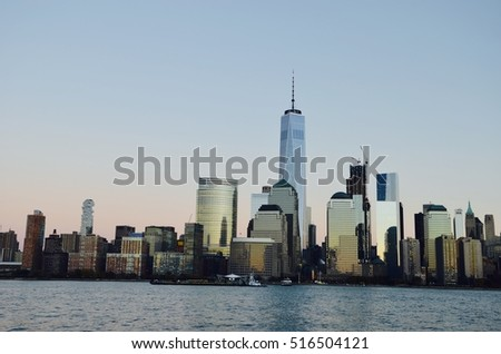 Manhattan skyline, NYC, USA.