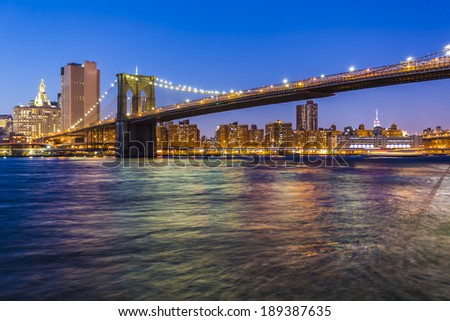 Manhattan Skyline with Brooklyn Bridge, New York City