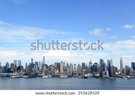 Manhattan skyline with Hudson River, New York City