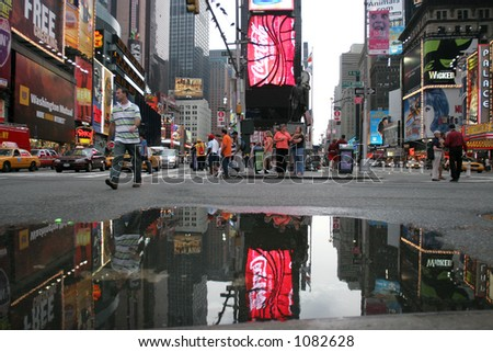 manhattan-times square,little brazil,broadway - stock photo