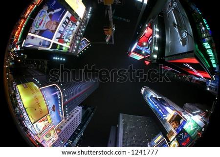 Manhattan - times square - new york - usa - stock photo