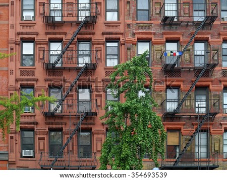 Brick Apartment Building side of brick building stock images, royalty-free images & vectors