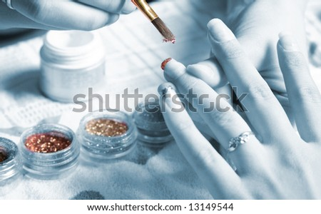 manicure - stock photo