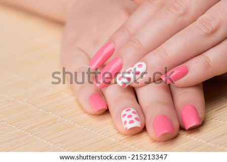 Manicure beauty treatment photo nice manicured stock photo manicure beauty treatment photo of nice manicured woman fingernails very nice feminine nail art prinsesfo Image collections