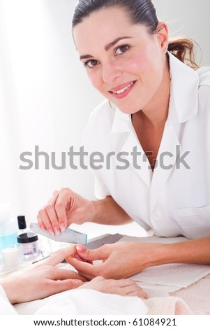 Manicure in process - stock photo