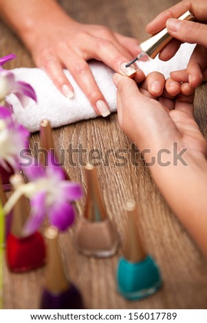 manicure making concept - stock photo