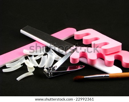 Manicure/Pedicure Supplies - stock photo