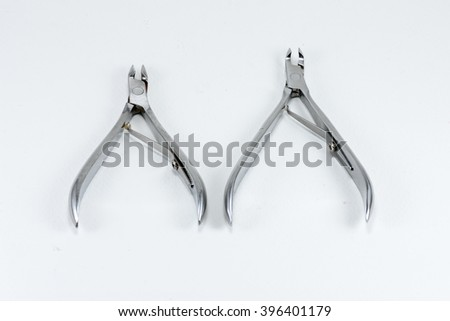 Manicure scissors isolated on white
