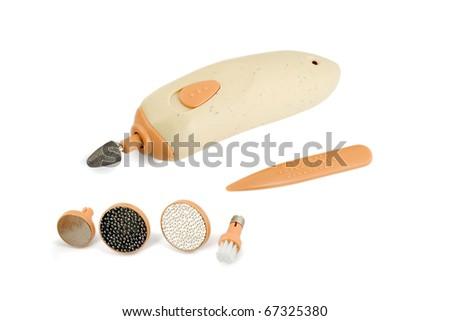 manicure set isolated on white background - stock photo