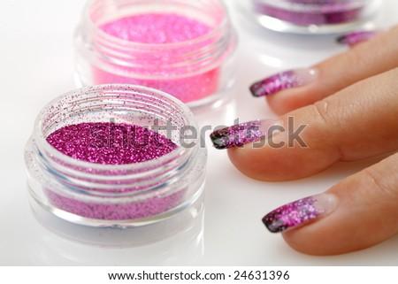 Manicure theme - stock photo