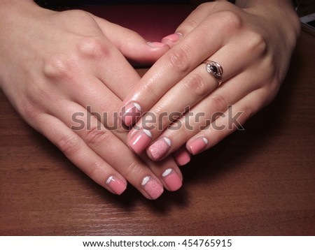 manicurist job done perfectly happy with a good customer a nice manicure