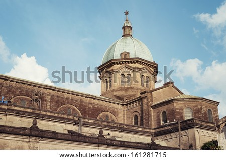 Manila Cathedral in Intramorus. Philippines. - stock photo