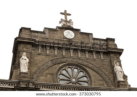 Manila cathedral, Philippines - stock photo
