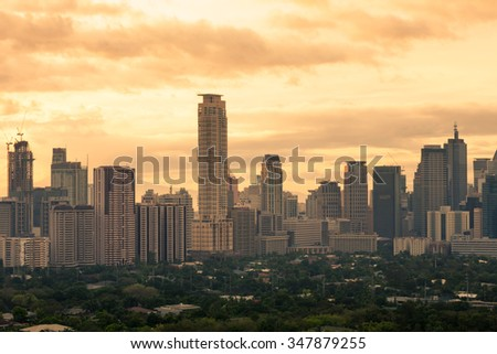 Manila city. (Philippines) - stock photo