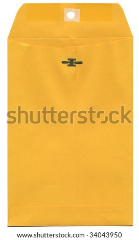 Manila Envelope Isolated - stock photo
