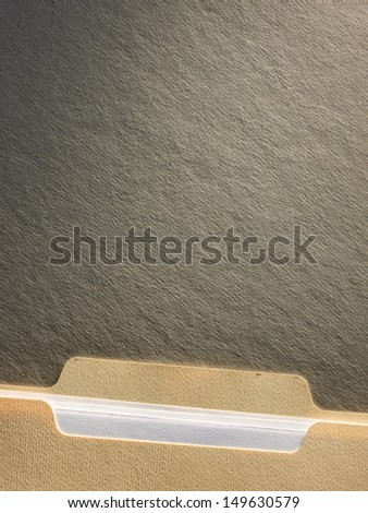 Manila file folder on background - stock photo