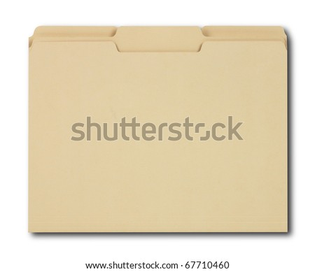 Manila File Folders with Path - stock photo