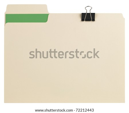 Manila folder with path - stock photo
