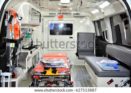 manila ph apr 1 interior ambulance stock photo royalty free 627513887 shutterstock. Black Bedroom Furniture Sets. Home Design Ideas