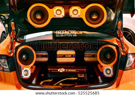 sound system car. 6: customized car sound system at manila auto salon