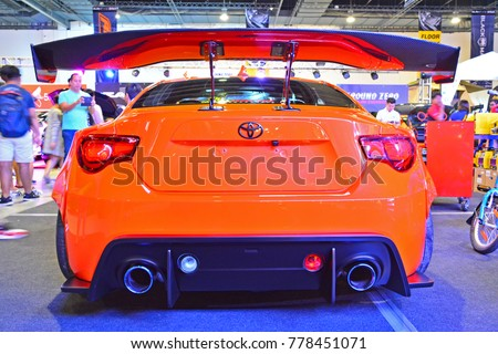 30: Orange Toyota 86 Sports Car At Manila Auto